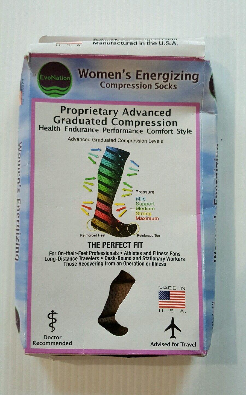 6e3bbc86e2 EvoNation Womens USA Made Open Toe Sheer Graduated Compression Socks ...