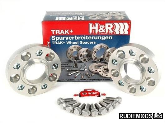 H&R 20mm Hubcentric Wheels Spacers Fiat 500 2007 on inc Abarth 4x98