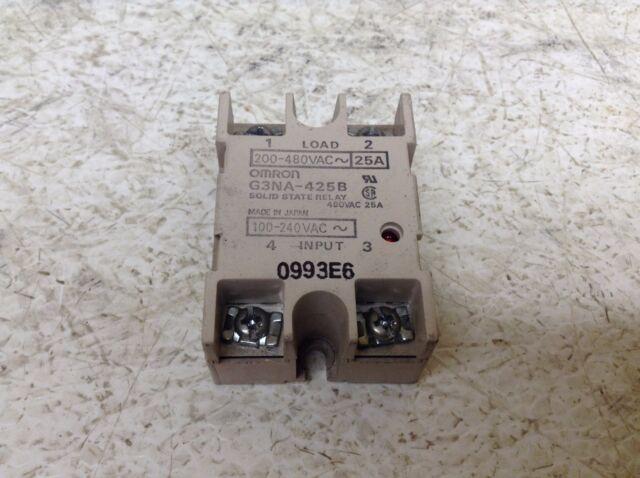 Omron G3na425b Solid State Relay 100240 VAC Coil 25 Amp G3NA425B