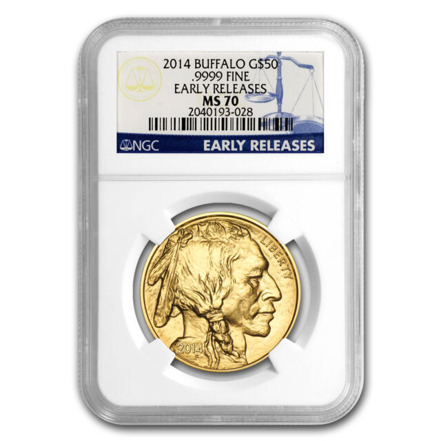 2014 1 oz Gold Buffalo MS-70 NGC (Early Releases) - SKU #79360