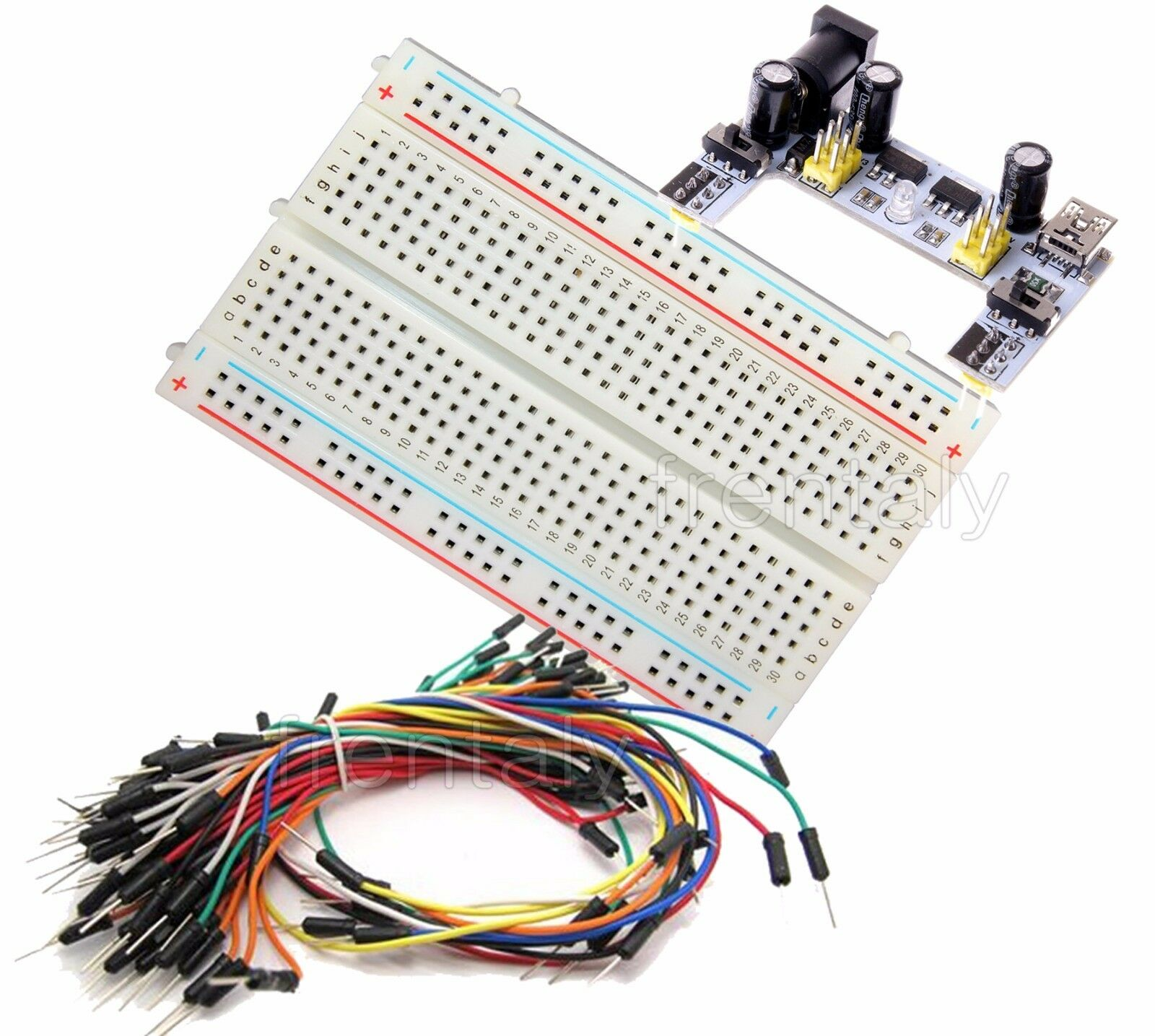 Mini Prototype Breadboard K2 Power Supply 65 Pcs Wire Cable Breadboards Are Used To Electronic Circuits Without Having Picture 1 Of 4