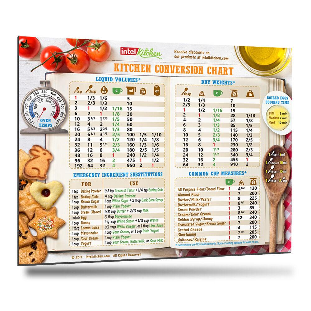 2018 best design kitchen conversion chart magnet cooking baking 2018 best design kitchen conversion chart magnet cooking baking metric measure ebay nvjuhfo Gallery
