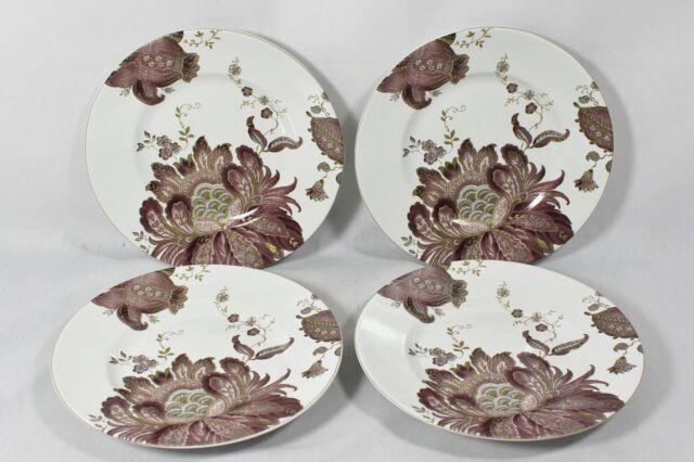 222 Fifth Eliza Plum Fine China Porcelain Floral Salad Plates Set of Four New & 222 Fifth Eliza Plum Fine China Porcelain Floral Salad Plates Set of ...