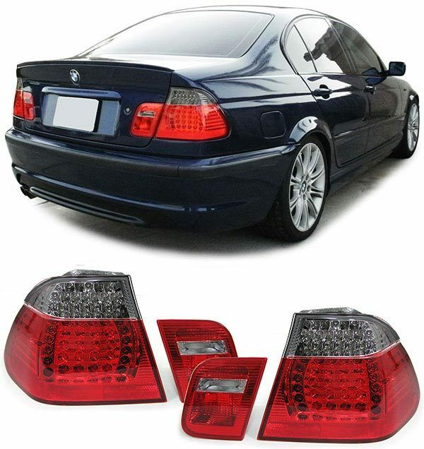 bmw e46 limo 01 05 led r ckleuchten rot schwarz m3 look ebay. Black Bedroom Furniture Sets. Home Design Ideas