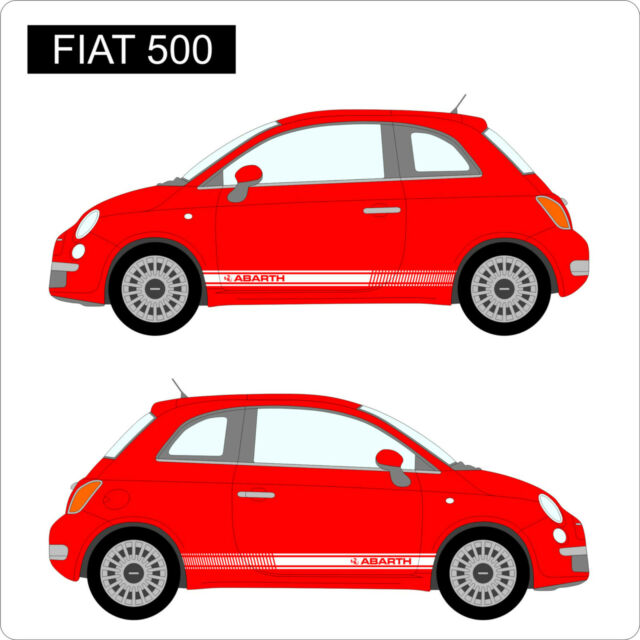 Fiat 500 abarth side stripes custom car stickers decal vinyl graphics new