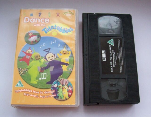 TELETUBBIES - Dance With The Teletubbies VHS video - tested