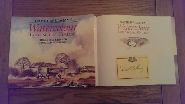 David Bellamy's Watercolour Landscape Course From First Steps SIGNED Book 1993