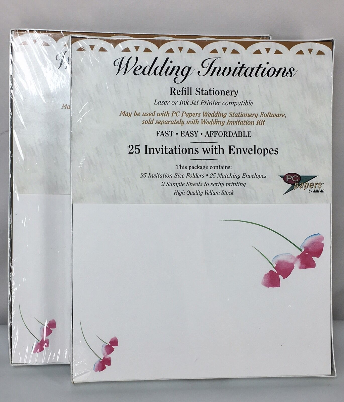 Ampad 35785 Wedding Invitations With Envelopes 50 for Laser or ...