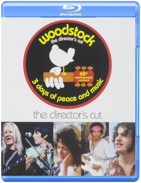 Woodstock: Three Days of Peace and Music (Blu-ray 3 disc) The Director's Cut NEW