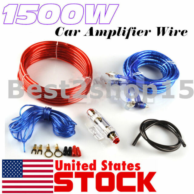1500w 8 gauge car audio amplifier amp installation wiring wire kit rh ebay com