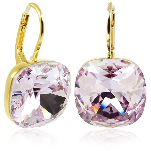 Ohrringe mit Kristallen von Swarovski® Gold Violett NOBEL SCHMUCK