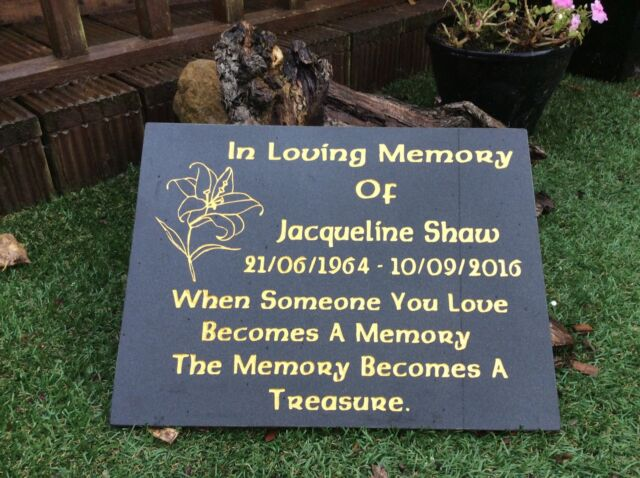 Memorial Grave Plaque Stone Engraved Headstone Large Black