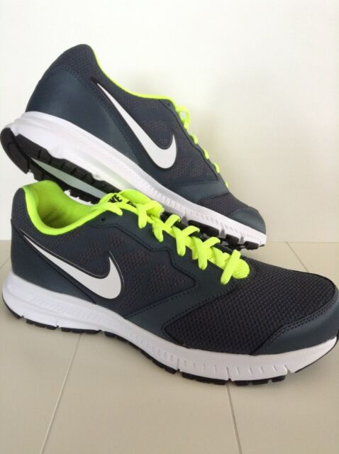 New Nike Mens Sneakers/Shoes Downshefter 6 Grey/White/Volt Sz 9.5,