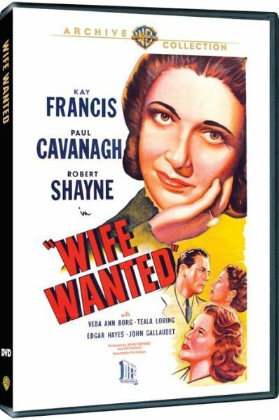 WIFE WANTED - (1946 Kay Francis) Region Free DVD - Sealed