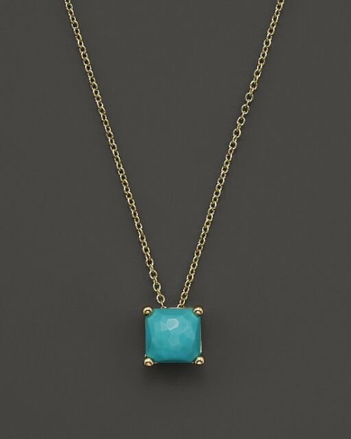 Ippolita rock candy 18k yellow gold ruby mini square pendant ippolita rock candy 18k yellow gold turquoise mini square pendant necklace 695 aloadofball Choice Image