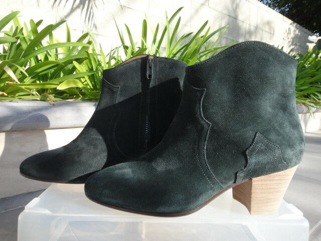 Isabel Marant Etoile Dicker Suede Boot W/zip Faded Black France WMN Sz 37 |  eBay