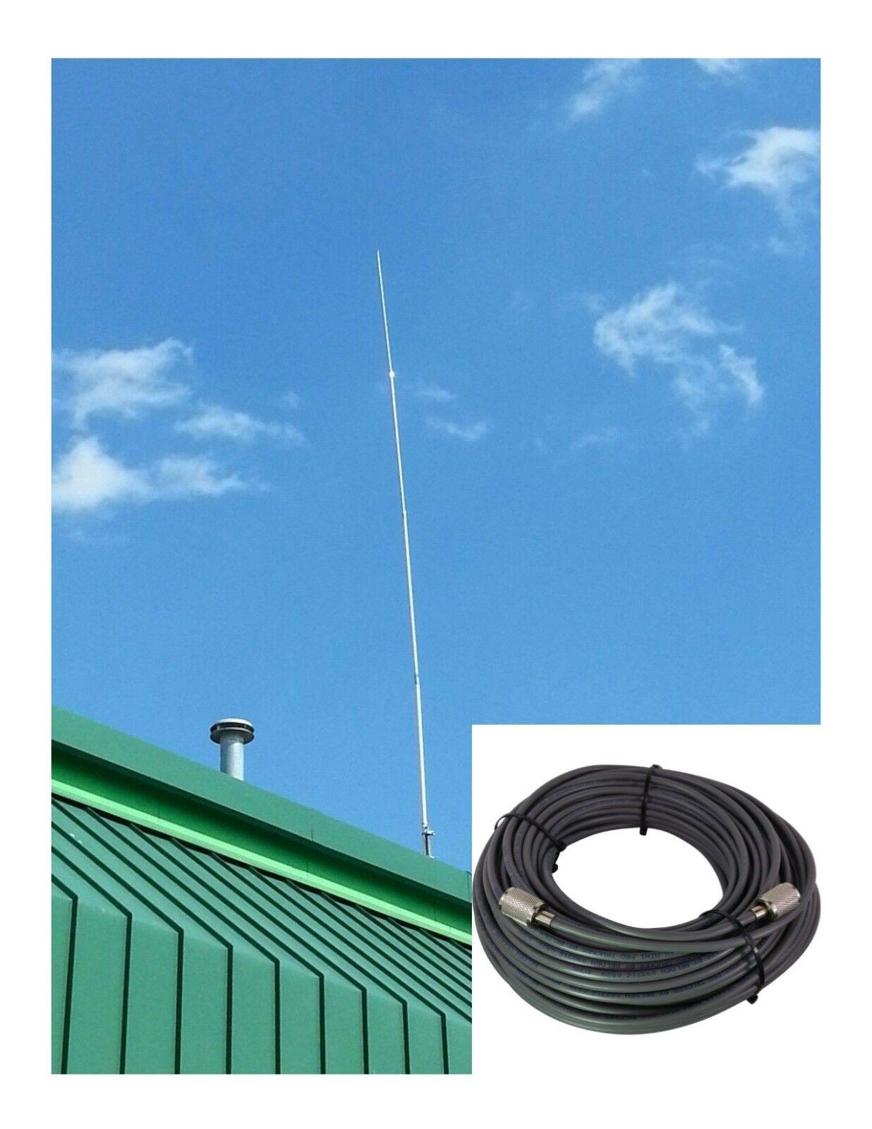 Pt99 ProComm Proton CB Ham Base Antenna & 50 FT Rg8x Coax Cable 95 ...