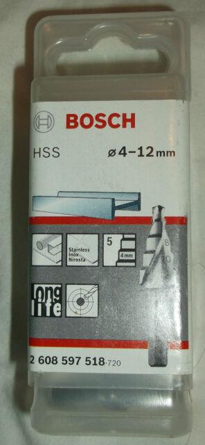 Bosch Hss 4 - 12mm Drill Bit 2608597518 Long Life 5 Step