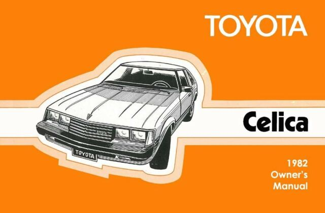 1982 toyota celica owners manual user guide reference operator book rh ebay com User Manual PDF Instruction Manual Example