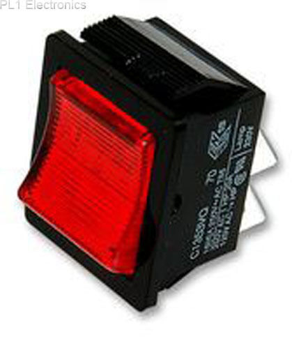 ARCOLECTRIC SWITCHES - C1353VQNAA - ROCKER SWITCH, DPST, ILLUM RED