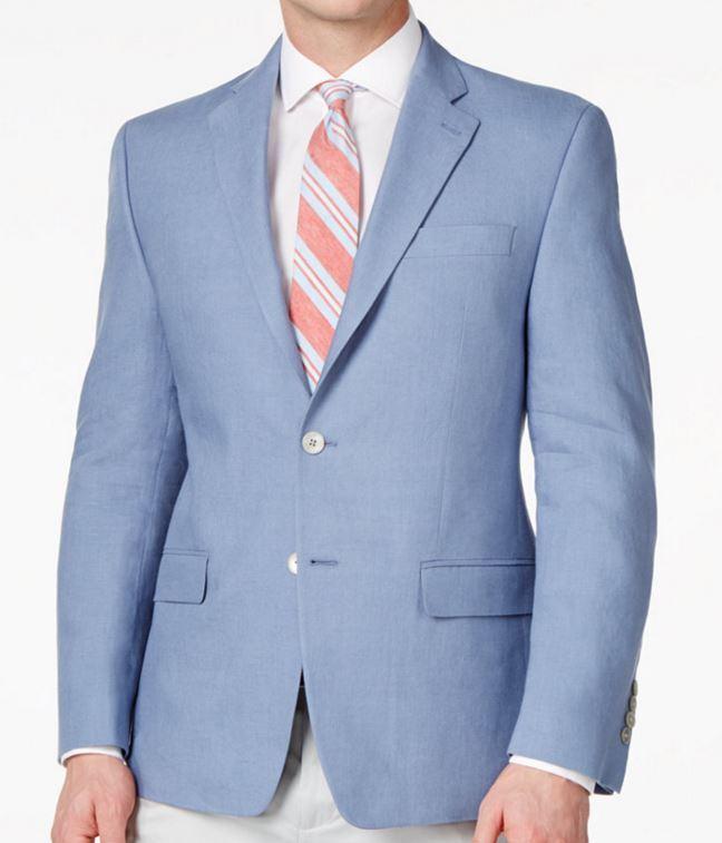 Lauren Ralph Lauren Blazer Size 44l Men Linen Suit Jacket Sport ...