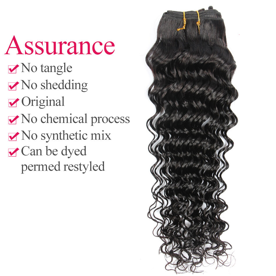 100 Virgin Deep Wave Curly Human Hair Extension 100g Mongolian Hair