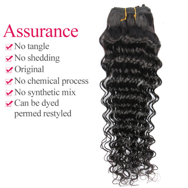 100 Virgin Deep Wave Curly Human Hair Extension 100g Mongolian Hair
