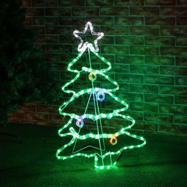 88cm Large LED Twinkling Christmas Xmas Tree Outdoor Rope