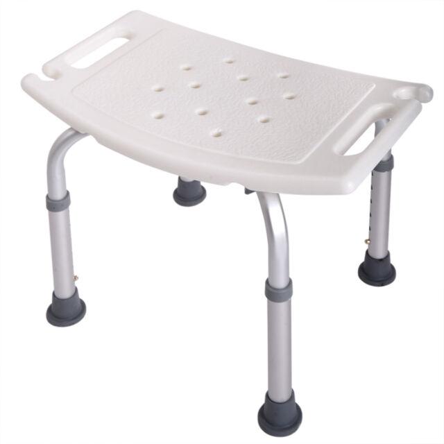 Genial Adjustable Medical Bath Shower Chair 6 Height Bench Bathtub Stool Seat  White New