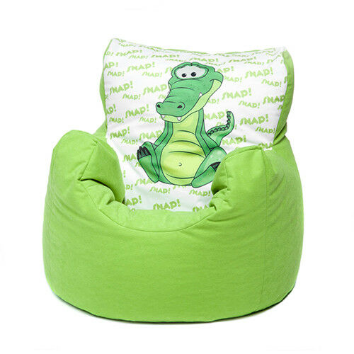 Green Crocodile Childrens Character Filled Beanbag Kids Bean Bag Chair Bedroom