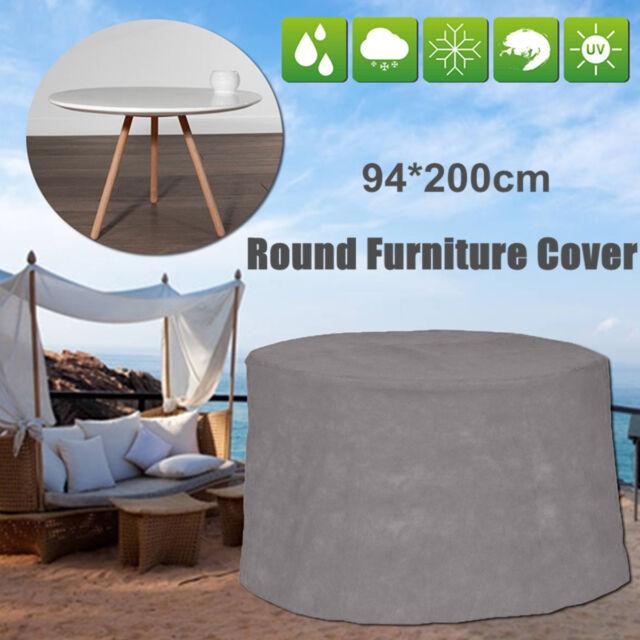 waterproof grey round patio table cover garden yard outdoor rh ebay co uk
