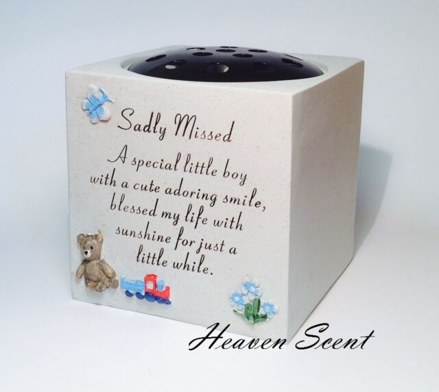 Memorial for Little Boy Grave Flower Vase Rose Bowl Pots Baby ...