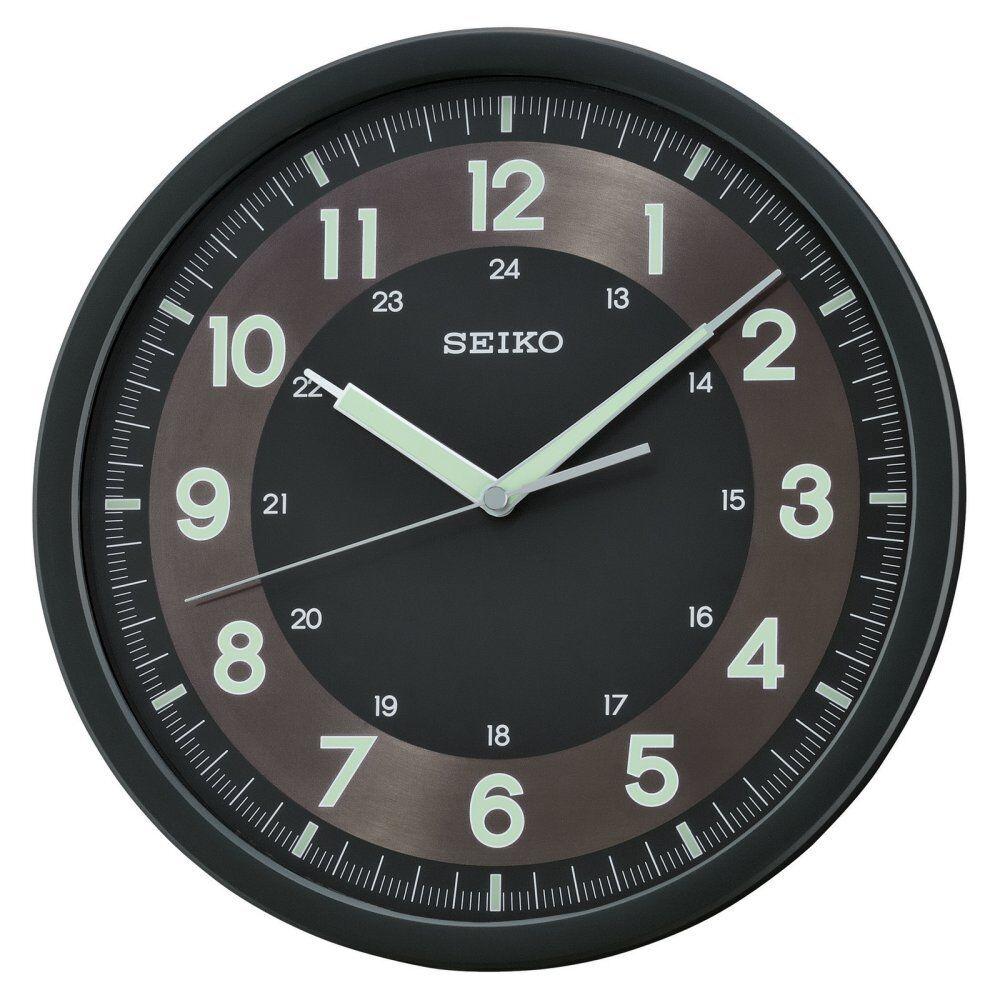 Seiko analog display japanese quartz wall clock watch qxa628krh ebay picture 1 of 1 amipublicfo Choice Image