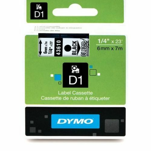 DYMO D1 STANDARD LABELS TAPE REFILL 6, 9, 12, 19, AND 24mm X 7M ASSORTED COLOURS