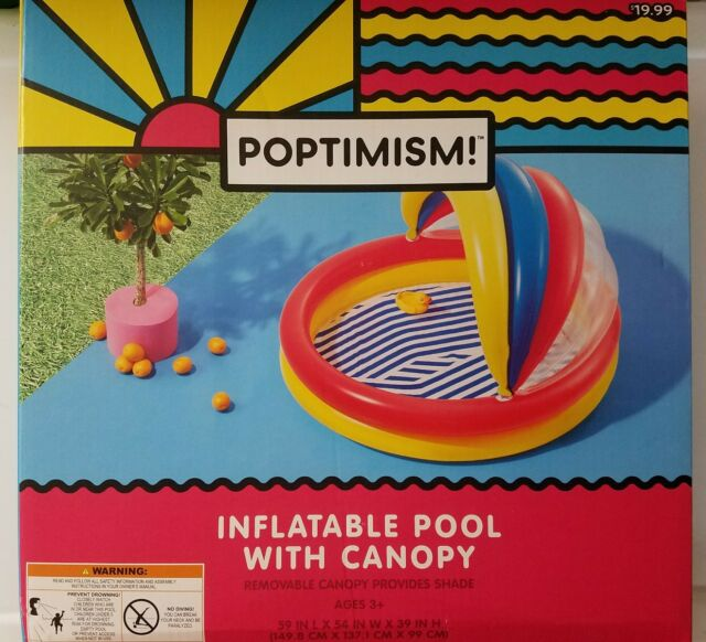 Inflatable Swimming Kiddie Pool w/ Canopy Shade 59  ...  sc 1 st  eBay & Poptimism Inflatable Swimming Kiddie Pool W/ Removable Canopy ...