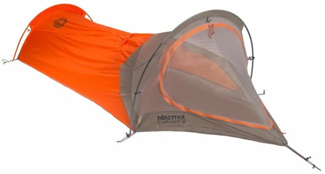 NEW $220 MARMOT  STARLIGHT 1P  1 PERSON TENT 3 SEASON ULTRALIGHT  sc 1 st  eBay & Marmot Starlight 1 Person Unisex Tent Vintage Orange 3 Season ...