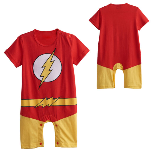 Baby Boys The Flash Costume Romper Infant Funny Outfits Newborn