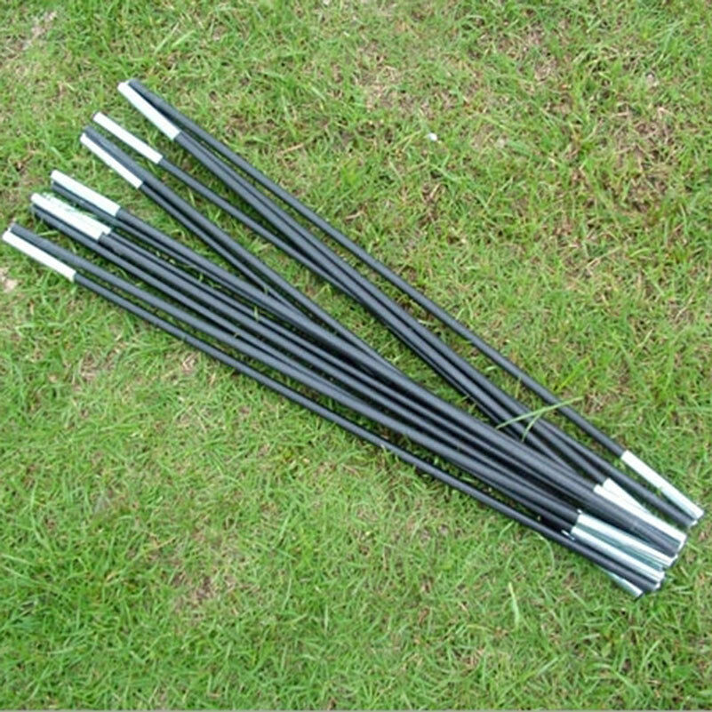 Picture 1 of 4 ... & RELIABLE Black Fiberglass Tent Pole Kit 7 Sections Camping Travel ...