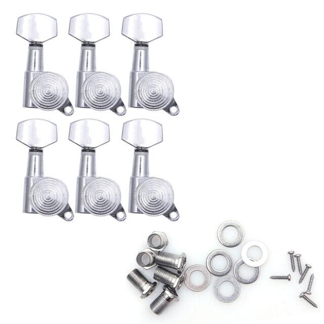 6 Pcs/Set Guitar String Tuning Pegs Machine Heads Locking Tuners Keys Chrome
