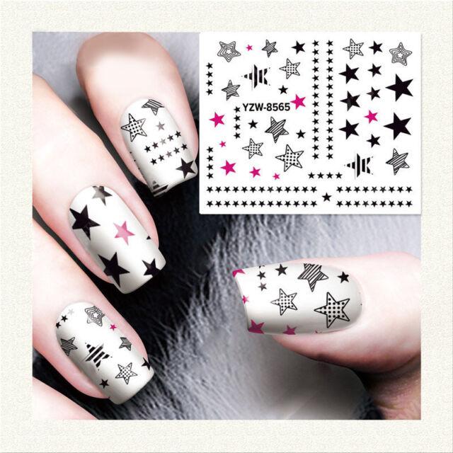 1 Sheet Nail Art Water Transfer Decal Manicure Sticker Flame Design