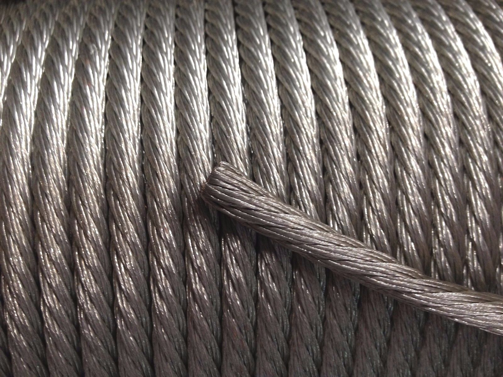 100\' Foot 4 AWG Gauge Tinned Copper Cable Bare Stranded Braid Ground ...