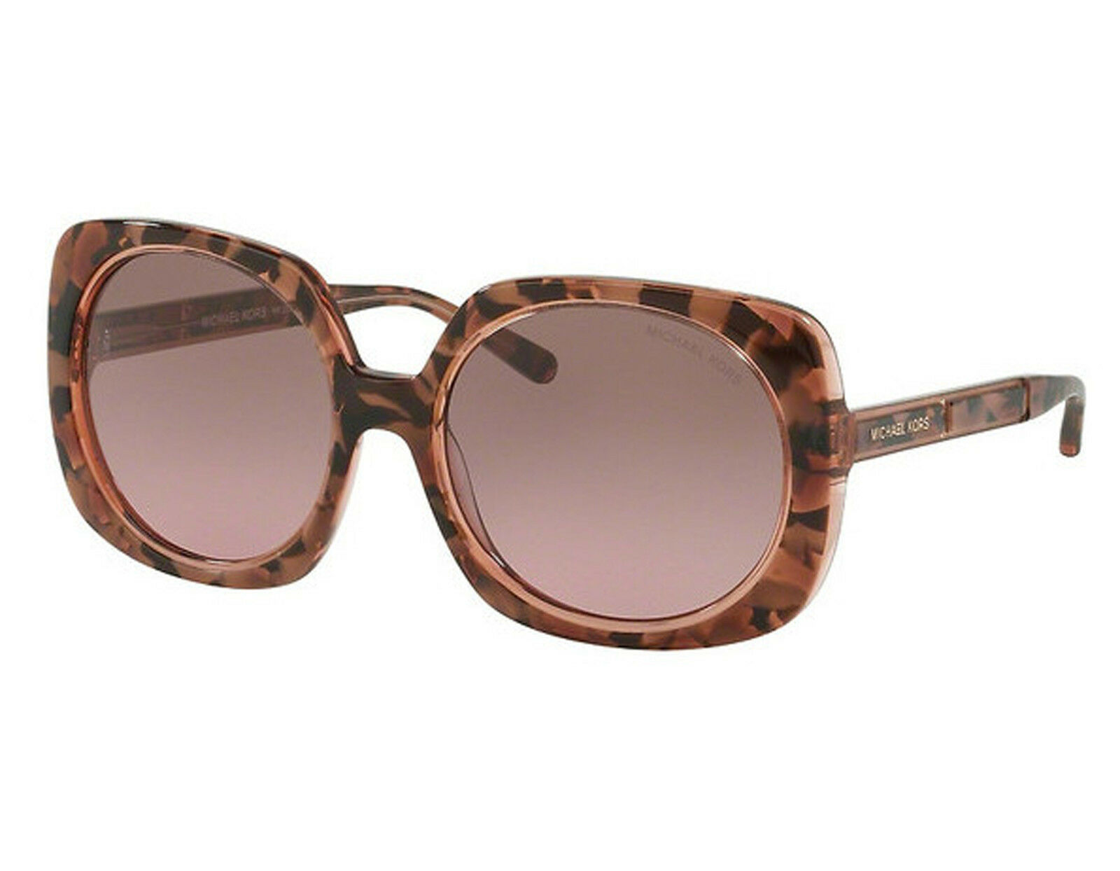 Michael Kors Damen Sonnenbrille Ula 325114, Pink Tort Graphic/Brownrosegradient, 55