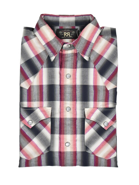 036d88405599 ... promo code for ralph lauren rrl red plaid cotton western shirt new 245  05c56 0d998 ...