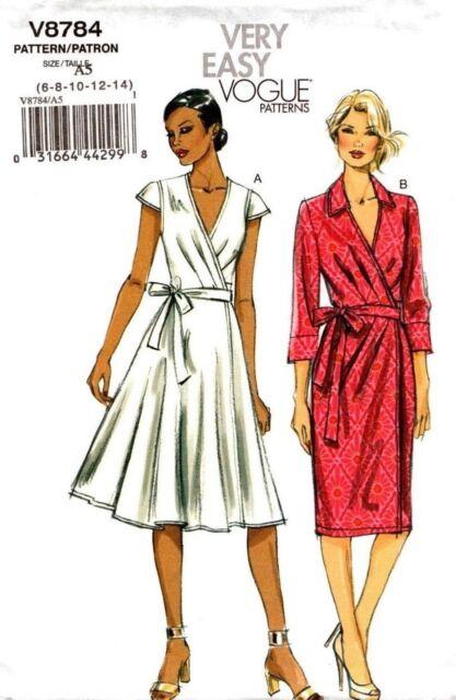 Vogue V8784 Misses Dress By Spotlight 14 22 Ebay