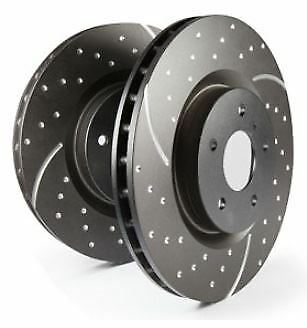 GD7134 EBC Turbo Grooved Brake Discs Front (PAIR) for FORD F-150