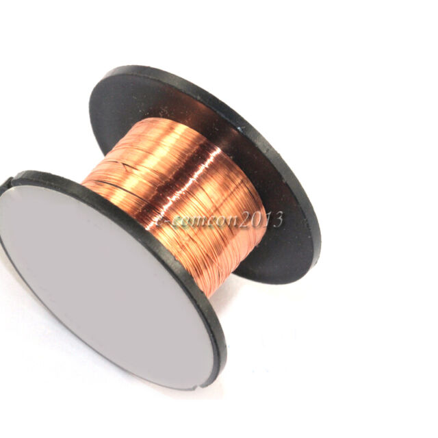 2 X Roll Enameled Wire Thin Copper Wire Welding Line 0.1mm Length ...