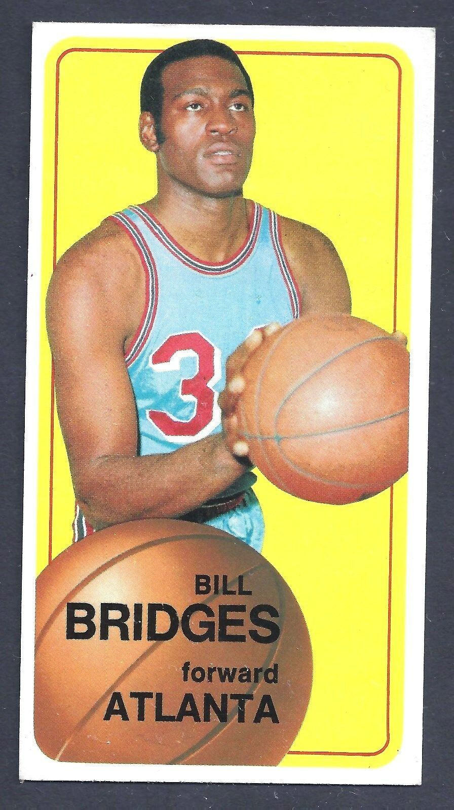 1970 1971 Topps Bill Bridges Atlanta Hawks 71 Basketball Card