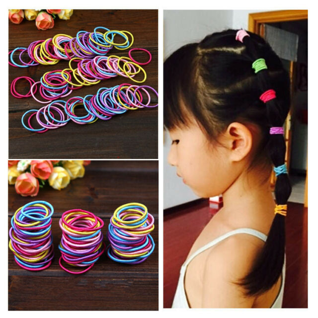 Kids Baby Girl 13 Pcs Elastic Hair Bands Ponytail Holder Head ...