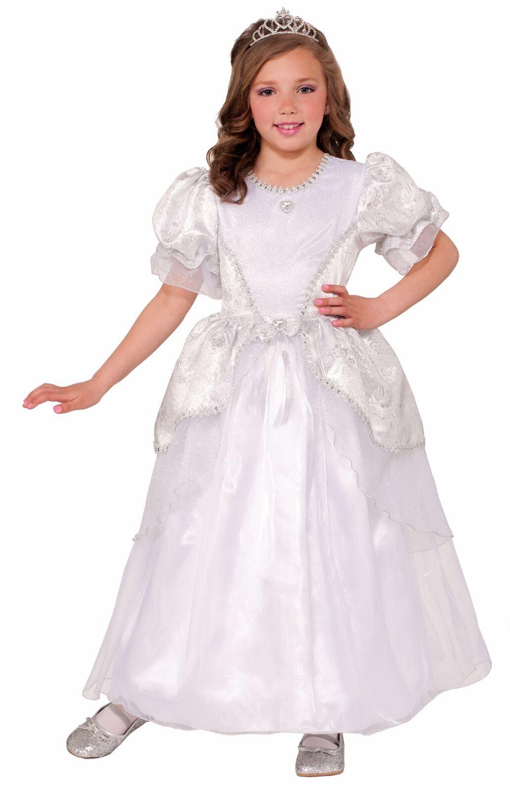 Deluxe Bride Princess Pearl White Wedding Dress Child Girls