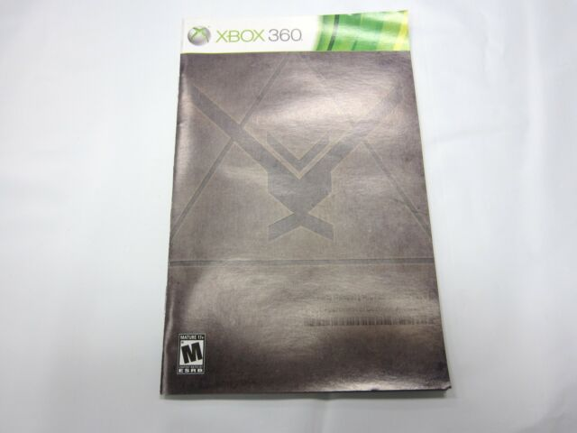 Halo Reach Instruction Manual Booklet  ONLY!! (XBOX 360)